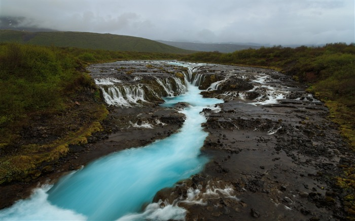 Bruarfoss waterfall iceland-Travel HD Wallpaper Views:1723