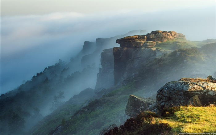 Curbar Edge Derbyshire England-November 2015 Bing Wallpaper Views:2424