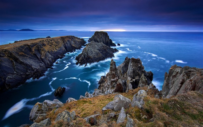 Donegal ireland sea stones-scenery HD Wallpaper Views:2725