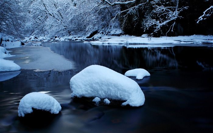 Forest river in winter-2015 Landscape Wallpaper Views:1952
