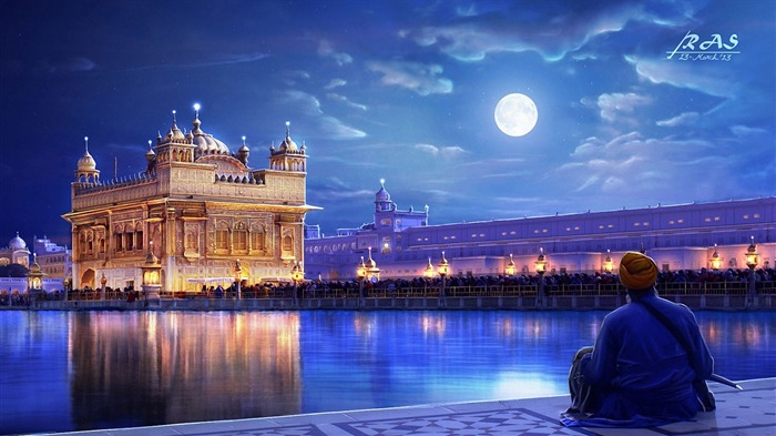 Golden temple amritsar punjab india-Cities HD Wallpaper Views:2053