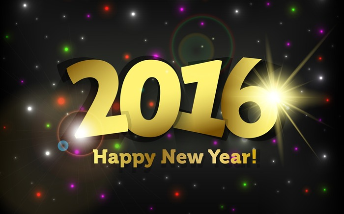 Happy New Year 2016 HD Desktop Wallpaper Views:14581