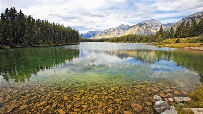 Lake johnson alberta canada-Travel HD Wallpaper Views:1830