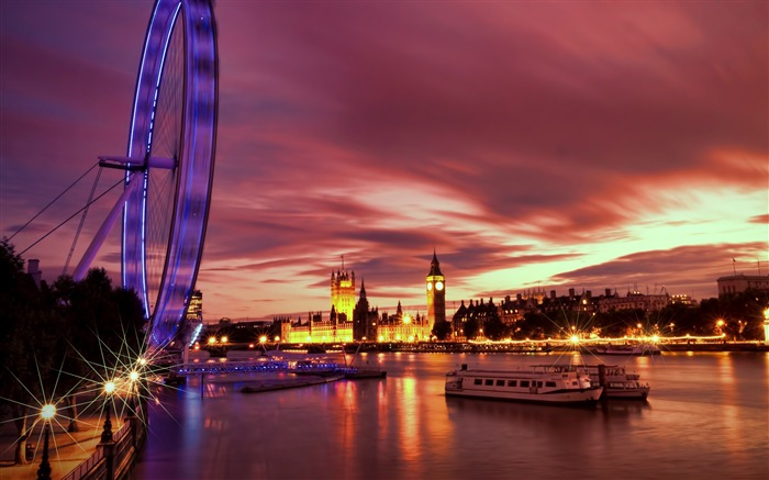 London Ferris Wheel Night-Cities HD Wallpaper Views:1546
