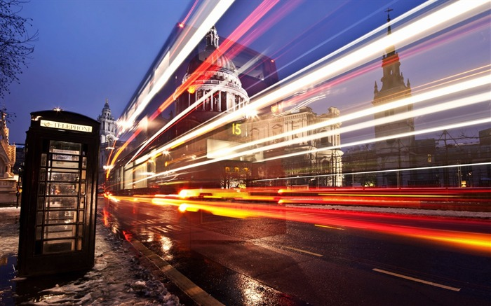London street road light exposure-Cities HD Wallpaper Views:1863