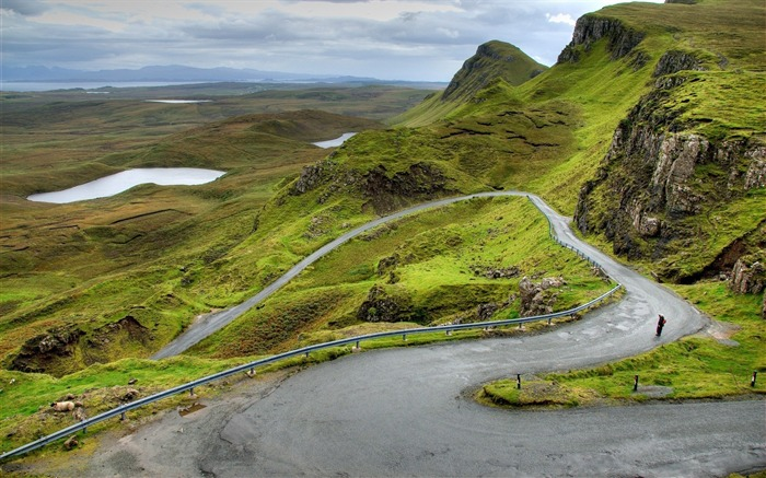 Mountains scotland road bends-scenery HD Wallpaper Views:2377