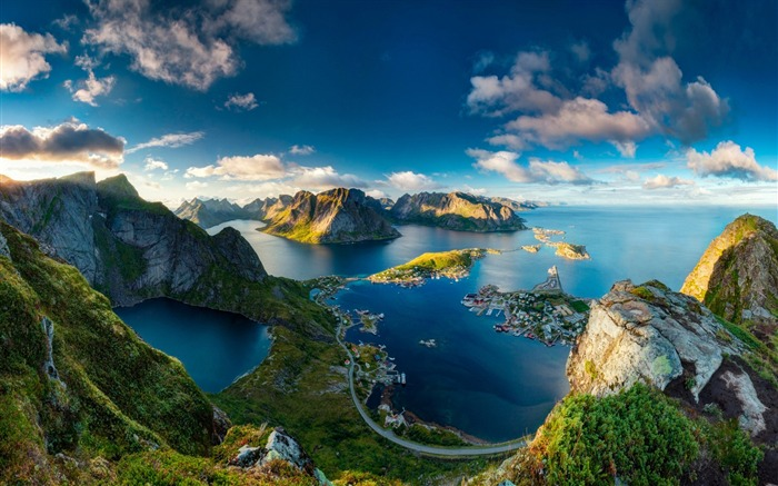 Reinebringen norway lookout-Travel HD Wallpaper Views:1993
