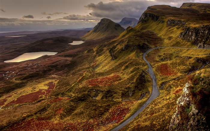 Scotland road landscape-Nature Photo HD Wallpaper Views:2683