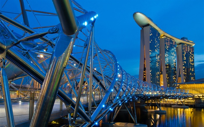 Singapore helix bridge-Cities HD Wallpaper Views:2026