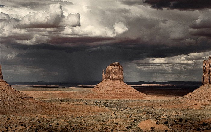 Storm in Monument Valley-November 2015 Bing Wallpaper Views:2162