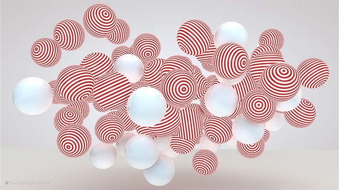 Striped balls-Theme HD Wallpaper Views:1520
