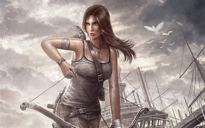 Tomb Raider Lara Croft Game HD Wallpaper Views:16399