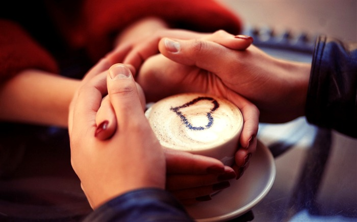 romantic hands and love cappuccino-HD Desktop Wallpaper Views:1935