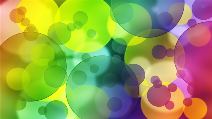 Colorful transparent bubbles-High Quality HD Wallpaper Views:1161