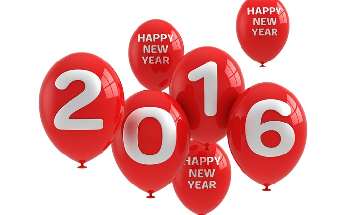 Happy new year balloons-2016 Merry Christmas Wallpaper Views:4357 Date:12/9/2015 7:20:35 AM