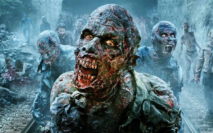 The walking dead zombies scary-Movie posters HD Wallpaper Views:1081