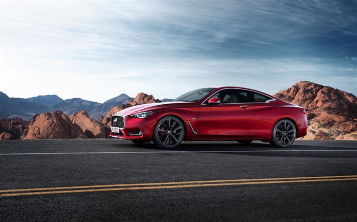 2017 Red Infiniti Q60 Series Auto HD Wallpaper 07 Views:1623