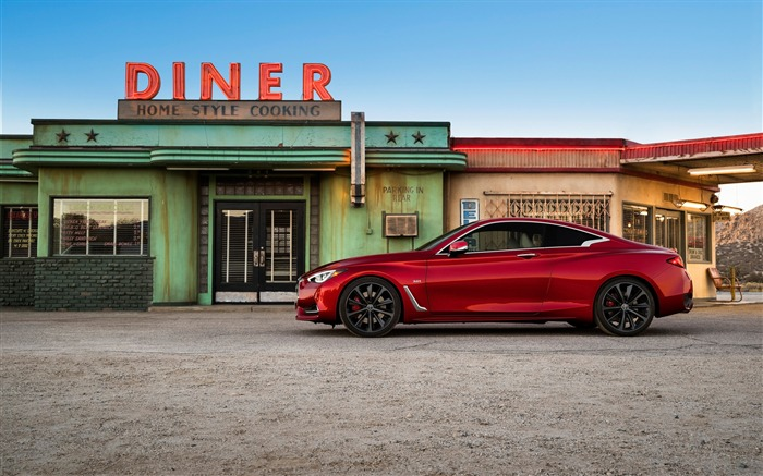 2017 Red Infiniti Q60 Series Auto HD Wallpaper 08 Views:1347