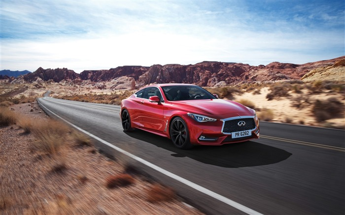 2017 Red Infiniti Q60 Series Auto HD Wallpaper 14 Views:1550