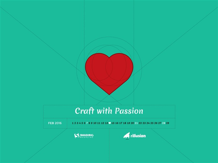 Craft With Passion-February 2016 Calendar Wallpaper Views:3398 Date:1/31/2016 7:53:21 PM