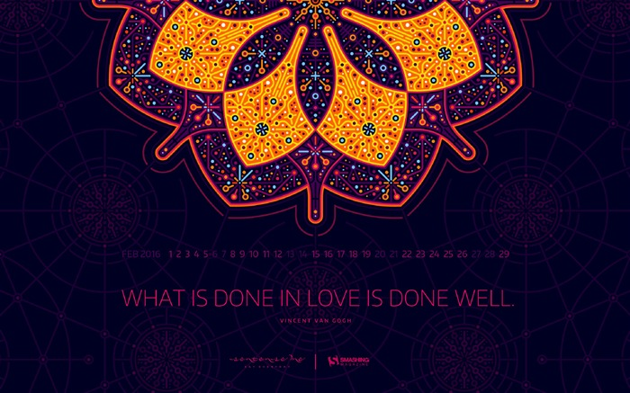 Just Do What You Love Most-February 2016 Calendar Wallpaper Views:3677 Date:1/31/2016 7:52:46 PM