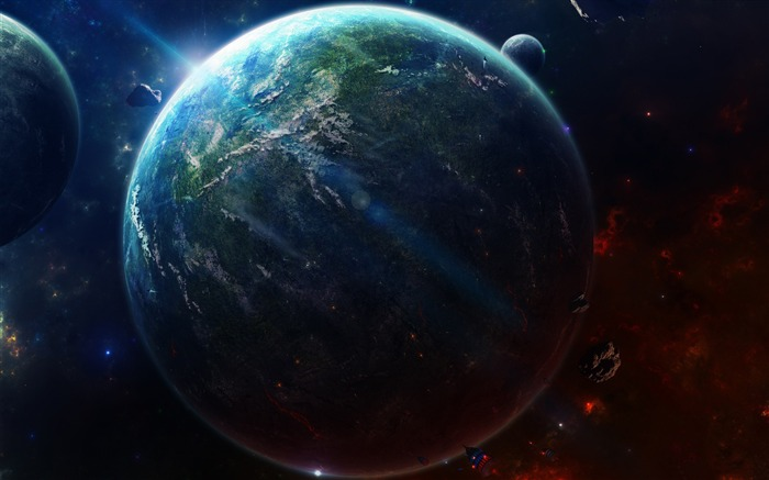 Lighted Planet Space-Universe HD Wallpaper Views:2360