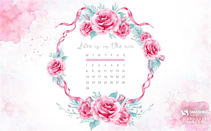 Love Is In The Air-February 2016 Calendar Wallpaper Views:3476 Date:1/31/2016 7:59:51 PM
