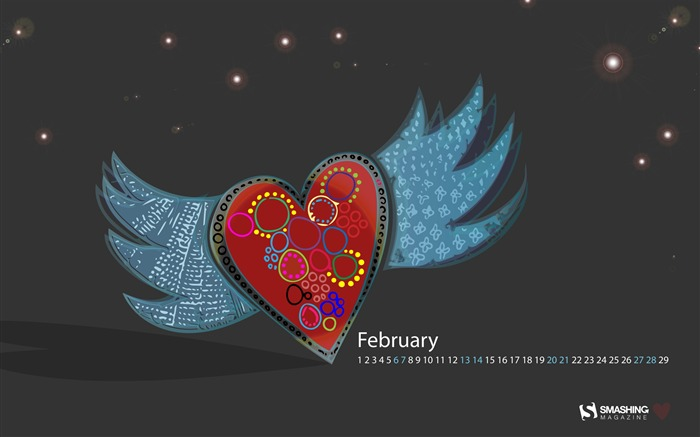 Set Your Love Free-February 2016 Calendar Wallpaper Views:2537 Date:1/31/2016 8:07:56 PM
