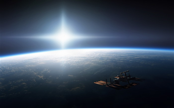 Space Earth Station Orbit-Universe HD Wallpaper Views:3082