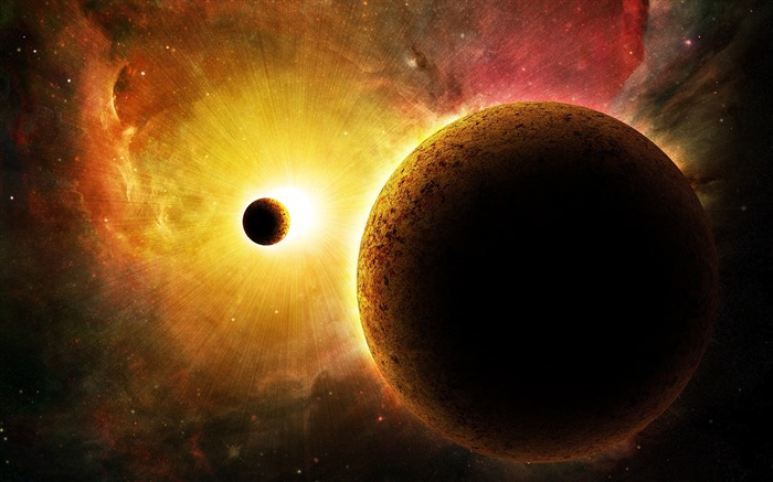 Sun And The Galaxy Space-Universe HD Wallpaper Views:1787