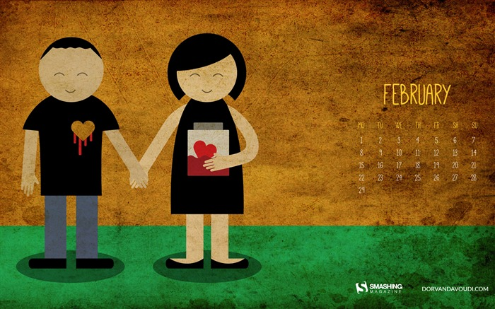 Valentines Day-February 2016 Calendar Wallpaper Views:3033 Date:1/31/2016 8:01:07 PM