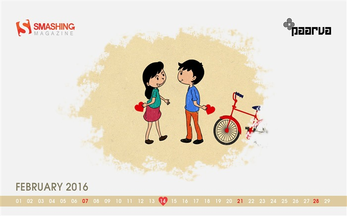 Valentines Day Special-February 2016 Calendar Wallpaper Views:2268 Date:1/31/2016 8:11:57 PM