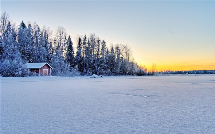 Cold Winter Nature Landscapes Theme HD Wallpaper Views:19716