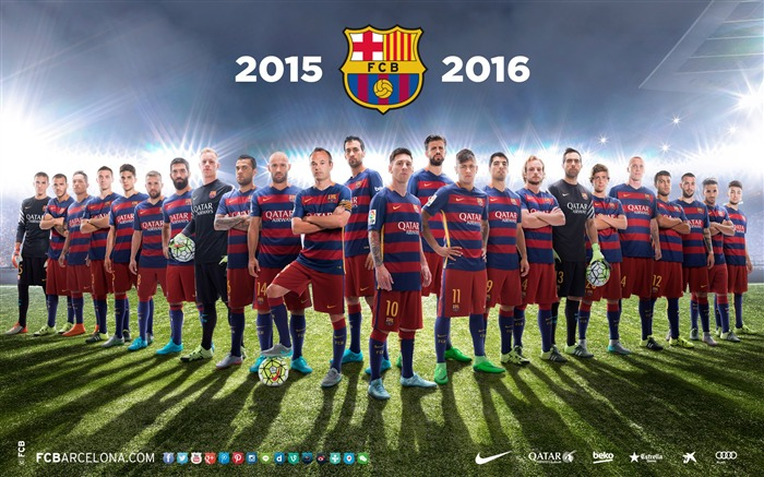 2015-2016 FC Barcelona Football Club fondo de pantalla HD Vistas:15810