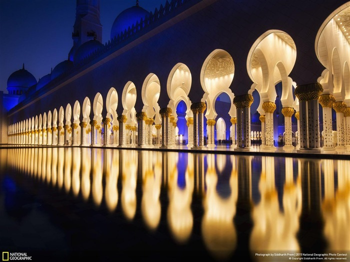 Arab Emirates Grand Mosque-2015 National Geographic Wallpaper Views:2033
