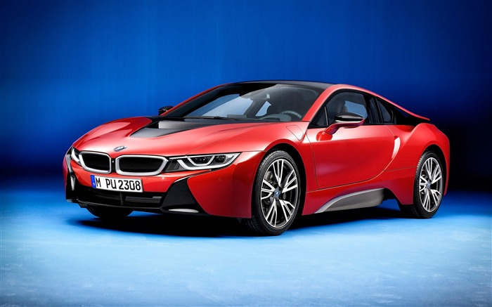 BMW i8 protonic red-Luxury Car HD Wallpaper Views:1900