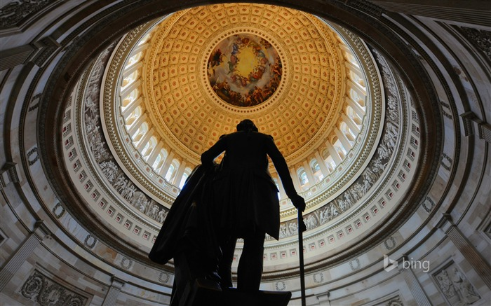 Bronze statue Capitol Washington-2016 Bing Desktop Wallpaper Views:2122