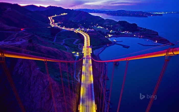 Golden Gate Bridge California-2016 Bing Desktop Wallpaper Views:2016