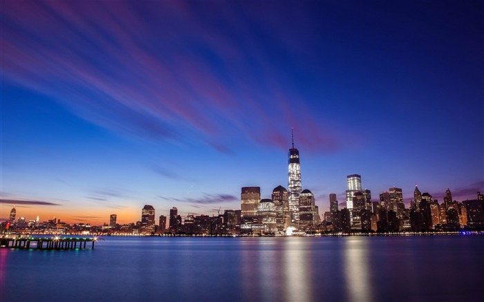 American Shining night cities scenery HD wallpaper Views:9382