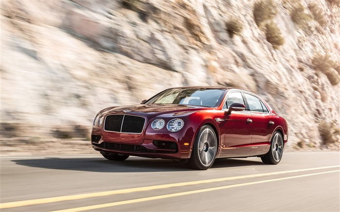 2016 Red Bentley Flying Spur V8 S Auto HD Wallpaper Views:2668