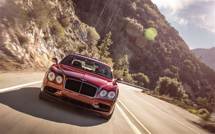 2016 Red Bentley Flying Spur V8 S HD Wallpaper 01 Views:1525