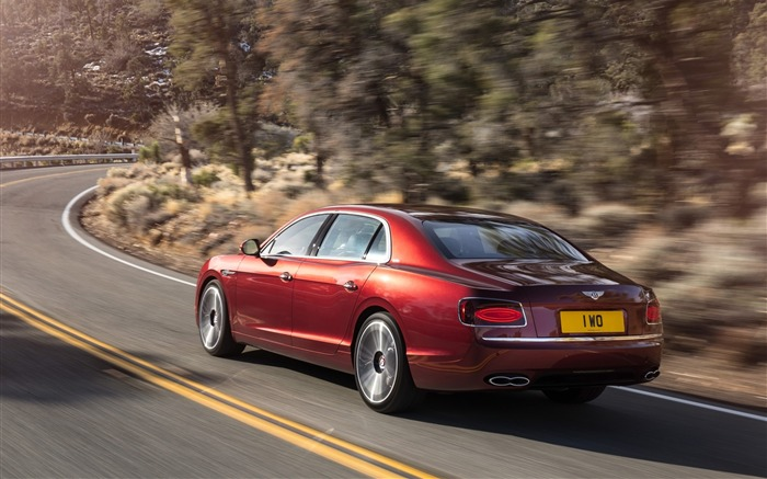 2016 Red Bentley Flying Spur V8 S HD Wallpaper 02 Views:1592