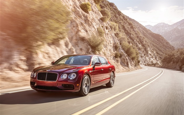 2016 Red Bentley Flying Spur V8 S HD Wallpaper Views:1707