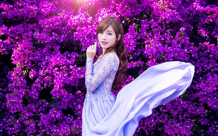 Asian fashion pure beauty girl photo wallpaper Views:6377