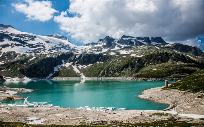 Austrian alps lake mountains-Nature Photo HD Wallpaper Views:2217
