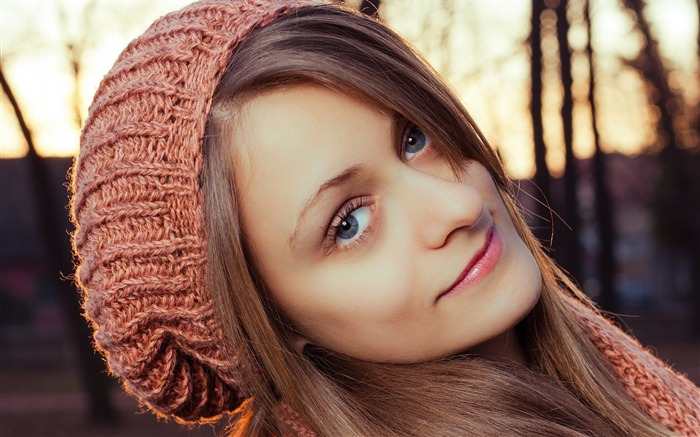 Girl hat eyes face-Beauty photo HD Wallpaper Views:3083 Date:3/17/2016 7:14:35 AM