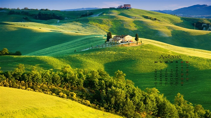 Italy Tuscany-April 2016 Calendar Wallpaper Views:849
