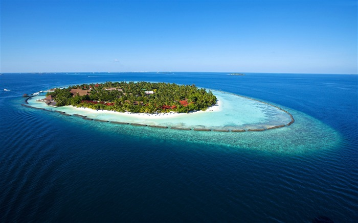 Maldives Vacation travel island ocean-Nature Photo HD Wallpaper Views:1866