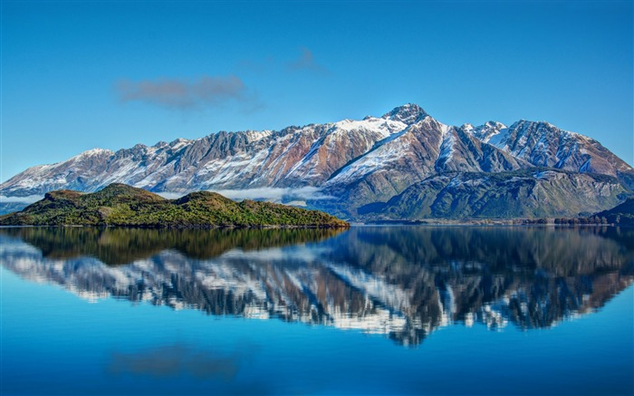 New Zealand mountain sea sky-Nature Photo HD Wallpaper Views:2000