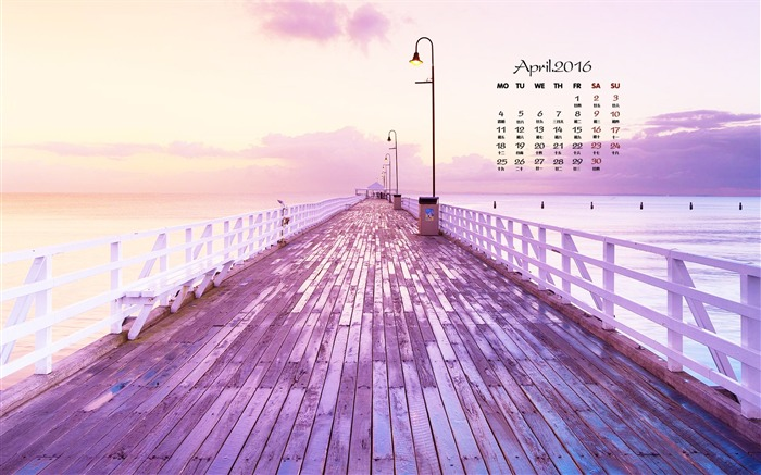 Purple trestle-April 2016 Calendar Wallpaper Views:780